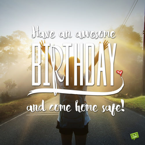 Birthday wish for a traveler on image for easy sharing.