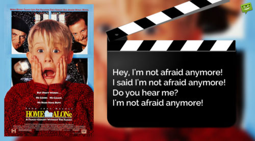 Christmas Movie Quote from Home Alone.