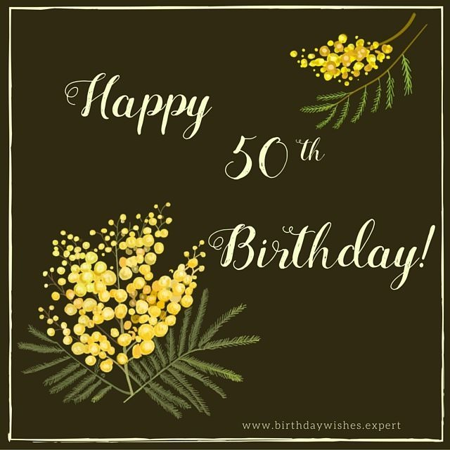 Happy 50th Birthday – 50th Birthday Card Greetings