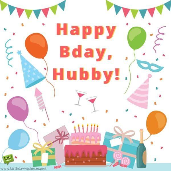 Happy Bday, hubby!