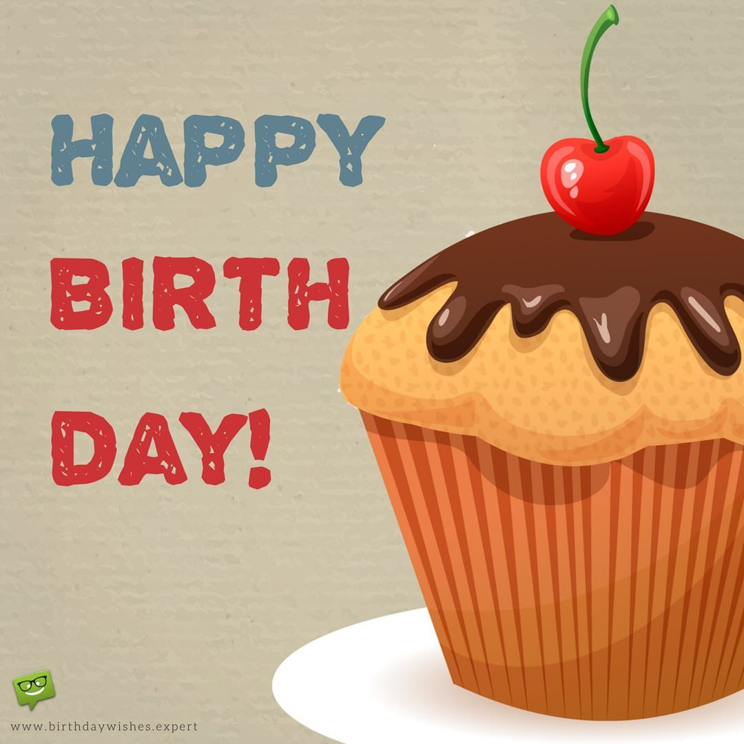 Happy Birthday Wish For A Friend On Image Of Huge Delicious Cup Cake 1