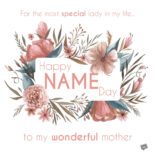 For the most special lady in my life. Happy Name Day to my wonderful mother.