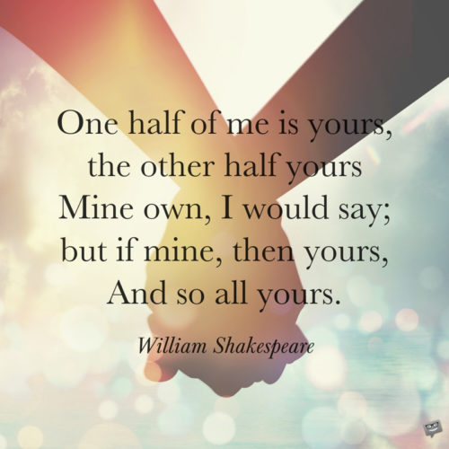 Shakespeare love quote on photo for easy sharing on chats and messages.