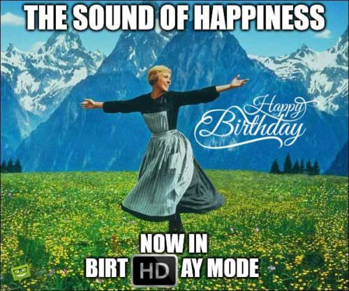 The sound of happiness, now in birtHDay mode.