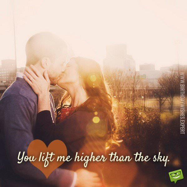 You life me higher than the sky.