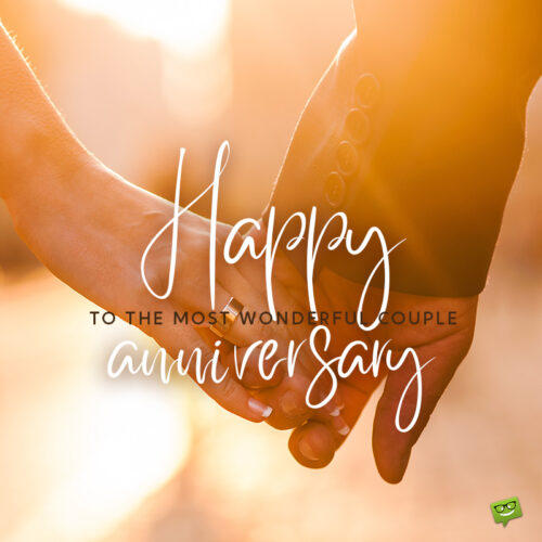 Anniversary wish for couple.