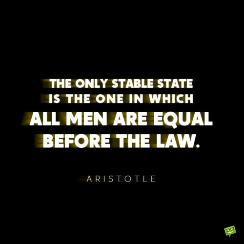 Aristotle quote to give you food for thought.