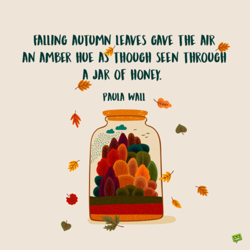 Autumn quote to inspire you.