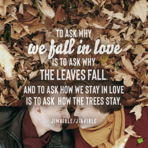 Autumn love quote to inspire you.