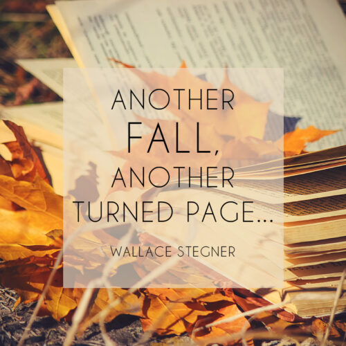 Short Autumn quote to inspire you.