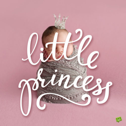 Little princes image to help you wish for the arrival of a new baby girl.