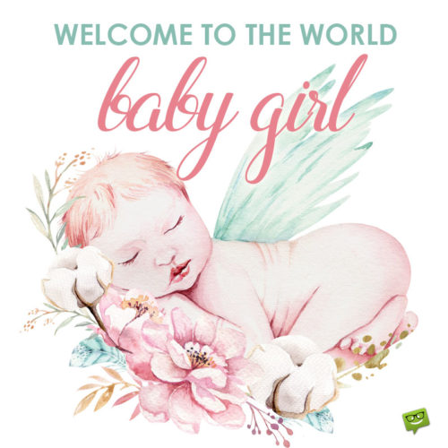 Baby girl image to help you wish for the arrival of a new baby.