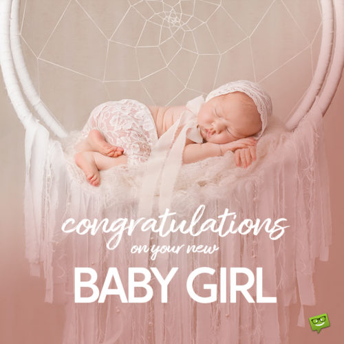 baby girl wish on photo with cute new born baby.