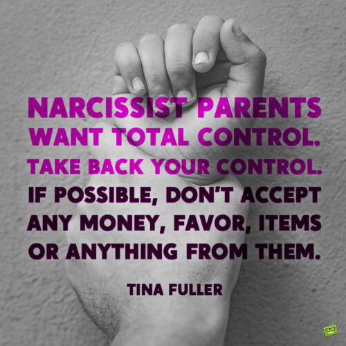 Narcissist parents quote to note.