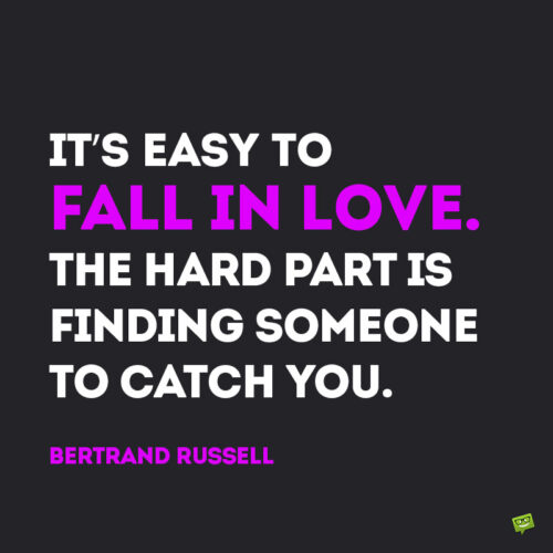 Funny love quote by Bertrand Russell to note and share.