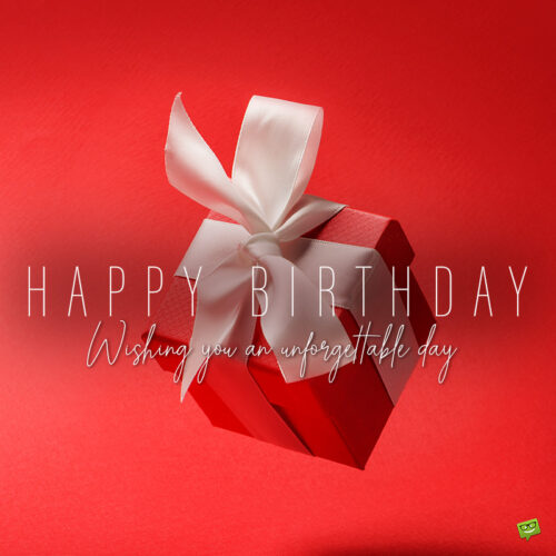 Birthday image with a message for a friend.