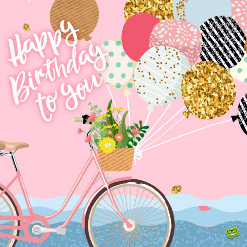 Gorgeous birthday image for messages and emails.