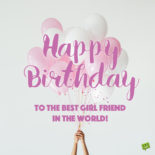 Birthday image for female bff on image for messages and chats.