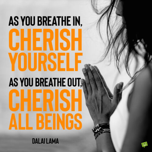Breathe quote to note and share.