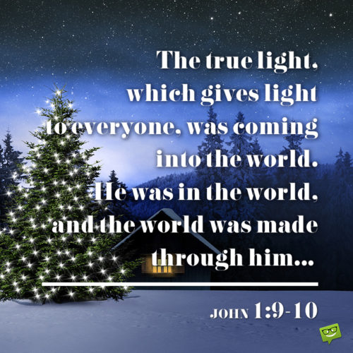 Christmas bible verse on image for wishing on message, chats, social media and emails.
