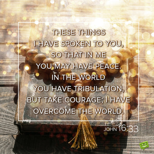 Christmas bible verse to inspire courage and hope.