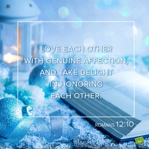 Christmas bible verse about love for wishing.