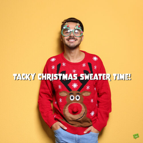 Funny Chrimast caption for posts with photos with friends.