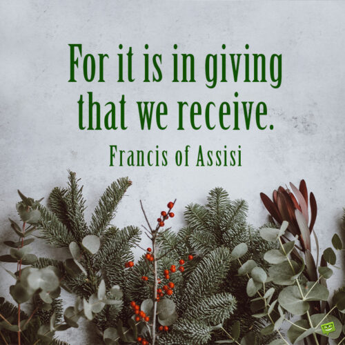 Christmas quote about the true meaning of Christmas.