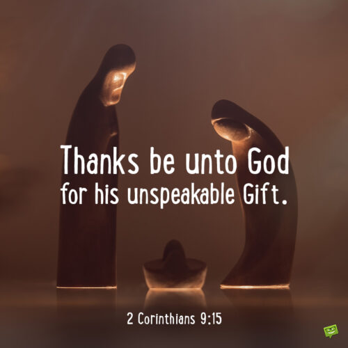 Christmas Bible quote to inspire you.