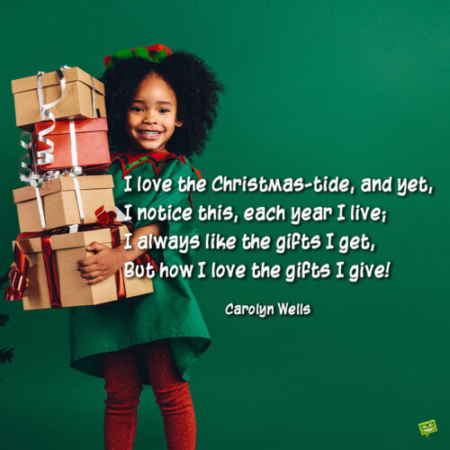 Christmas quote to share with friends and family.