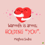 Cuddle quote to note and share.