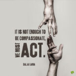 Dalai Lama quote to motivate us to be actively compassionate.