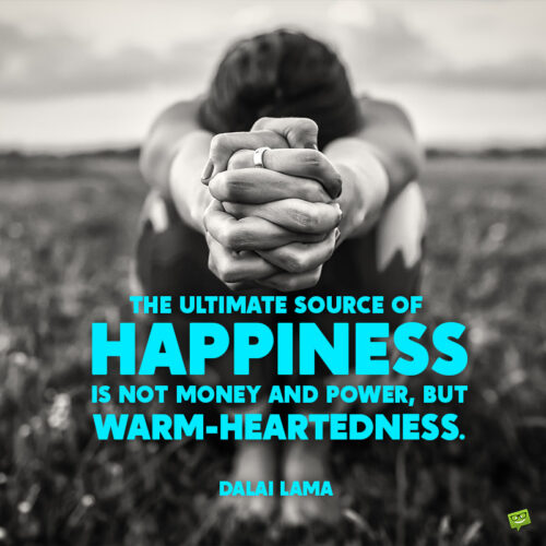 Happiness quote to inspire you.