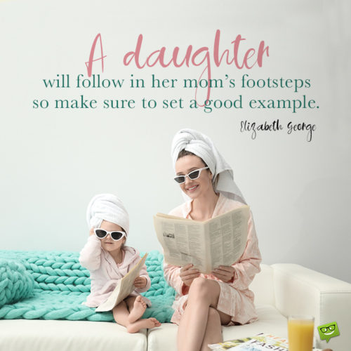 Mother daughter quote on funny image.