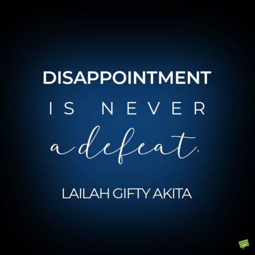 How to deal with disappointment quote.