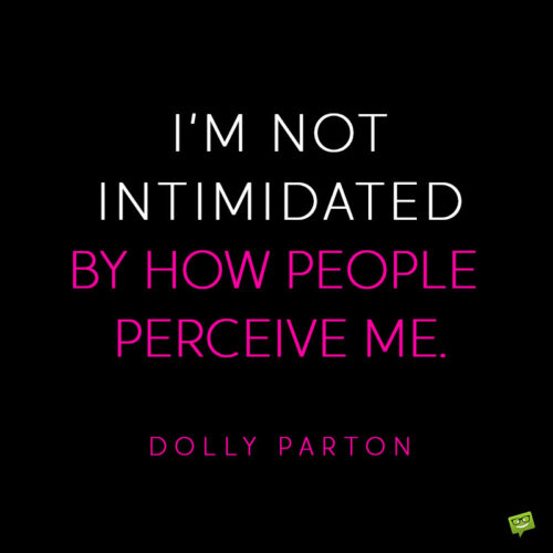 Dolly Parton quote to note and share.