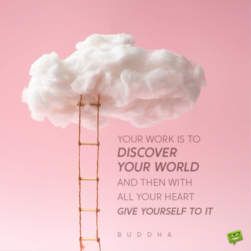 Inspirational dream quote by Buddha.