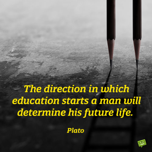 Education quote to give you food for thought.