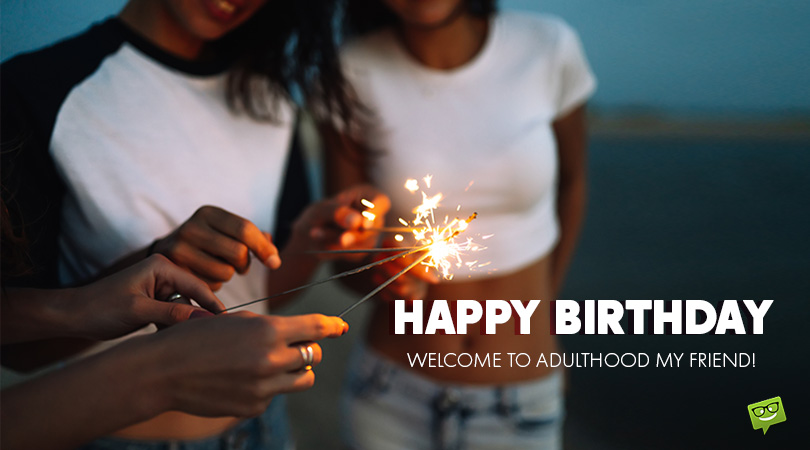 Entering Adulthood | 18th Birthday Wishes