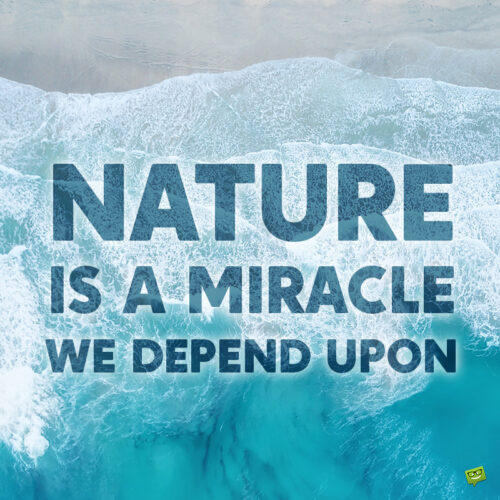 Environment quote to inspire and give food for thought.
