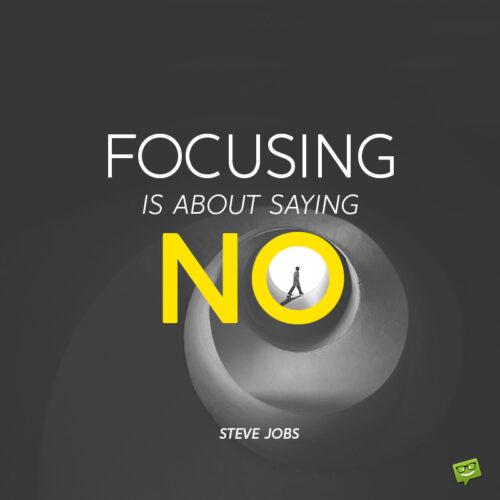 Focus quote to make you think.
