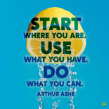 Motivational fresh start quote to share.