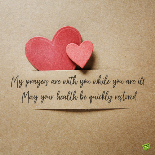 Cute image with religious get well soon wish.