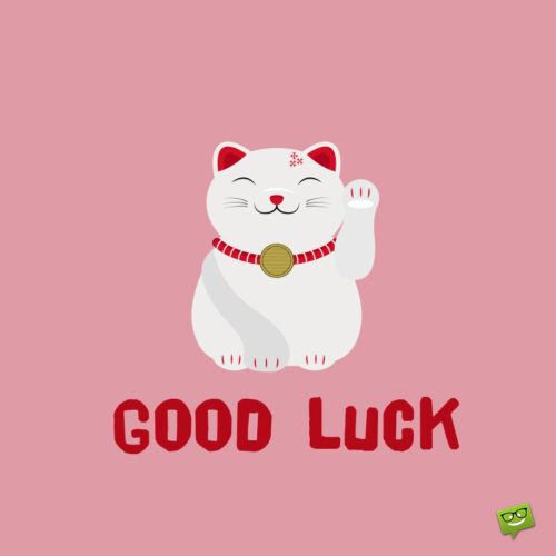 Good luck message for interview.