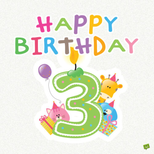Cute image for 3rd birthday.