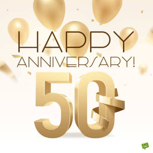 50th anniversary image to share with loved couple.