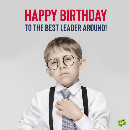 Funny birthday image for boss.