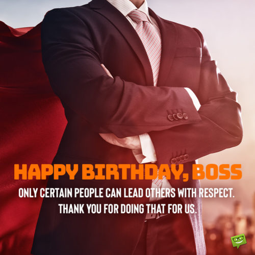 Birthday wish for boss.