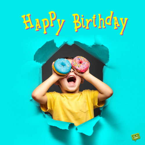 Happy Birthday image for boy.