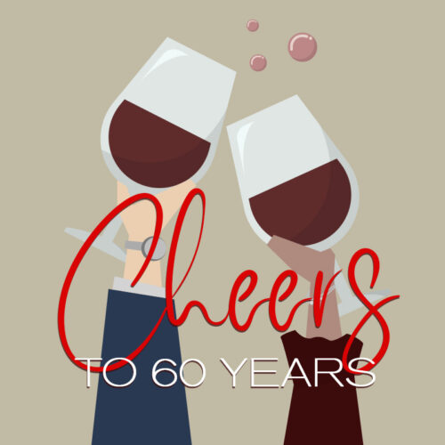 Happy birthday cheers for 60 years.
